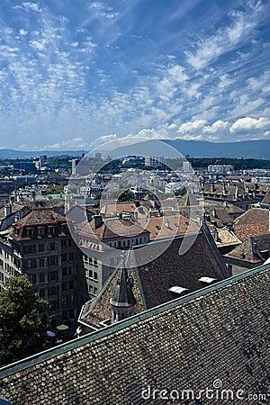 Geneva aerial view