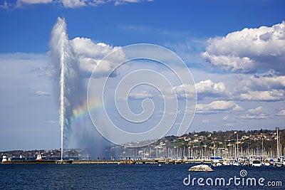 Geneva lake fountain view