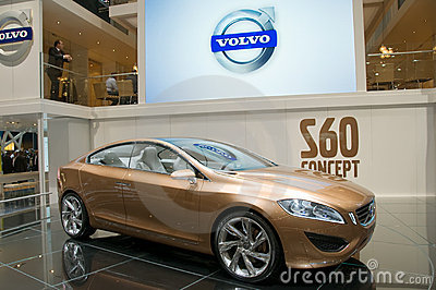 Geneva Motor Show 2009 - Volvo S60 concept car Editorial Stock Photo