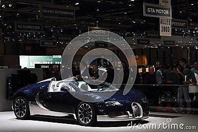 Geneva Motor Show 2011 – Bugatti Grand Sport Editorial Image