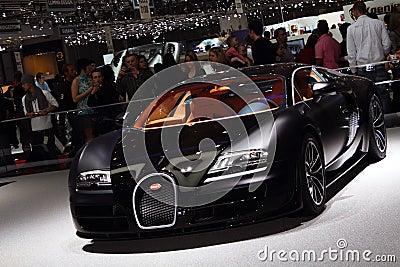 Geneva Motor Show 2011 – Bugatti Super Sport Editorial Photography