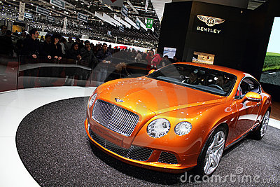Geneva Motor Show 2011 – Continental GT 2011 Editorial Photography