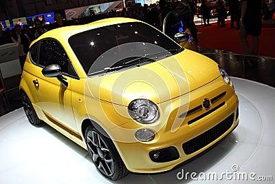 Geneva Motor Show 2011 – FIAT 500 Zagato Editorial Photography