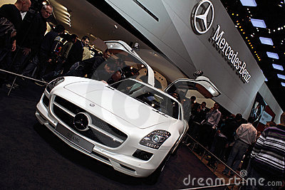 Geneva Motor Show 2011 – MERCEDES SLS AMG Editorial Stock Photo