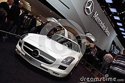 Geneva Motor Show 2011 – MERCEDES SLS AMG Editorial Stock Photo