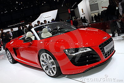 Geneva Motor Show 2011 – R8 5.2 Quattro Spyder Editorial Photo