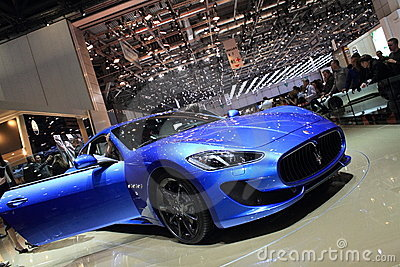 Geneva Motor Show 2012  Maserati Granturismo Sport Editorial Photo