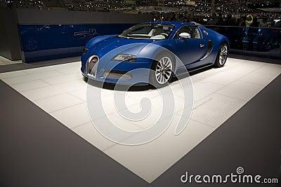 Geneva Motorshow 2009 - Bugatti Veyron Centenaire Editorial Stock Image