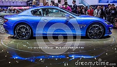 Geneva Motorshow 2012 - 2013 Maserati GranTurismo Editorial Stock Photo