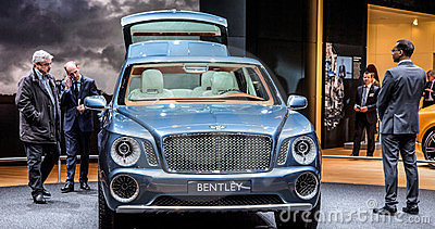 Geneva Motorshow 2012 - Bentley EXP-9 Editorial Photo