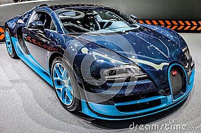 Geneva Motorshow 2012 - Bugatti Veyron Grand Sport Editorial Stock Image