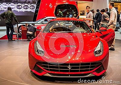 Geneva Motorshow 2012 - Ferrari F12 Berlinetta Editorial Image
