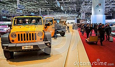 Geneva Motorshow 2012 - Jeep Wrangler Editorial Photo