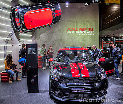 Geneva Motorshow 2012 - Mini John Cooper Works Editorial Photo