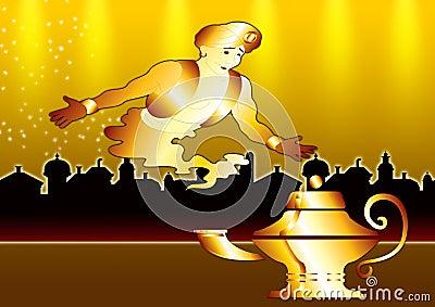 Genie in gold city