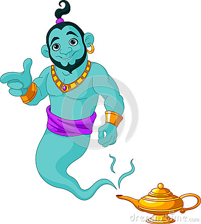 Genie granting the wish