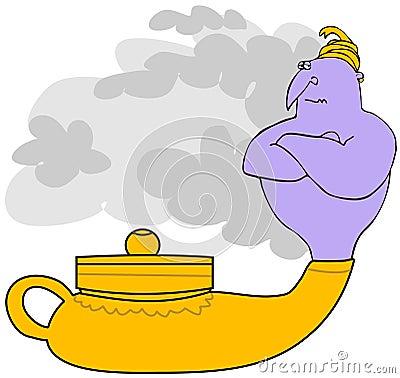 Genie In A Magic Lamp