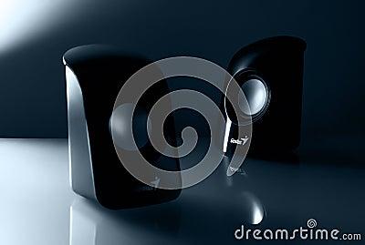 Genius Black Multimedia Speaker Free Public Domain Cc0 Image