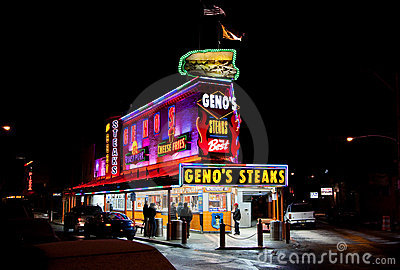 Geno s Steaks in Philadelphia Editorial Image