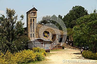 Genocide Memorial Church in Kibuye, Rwanda Editorial Image