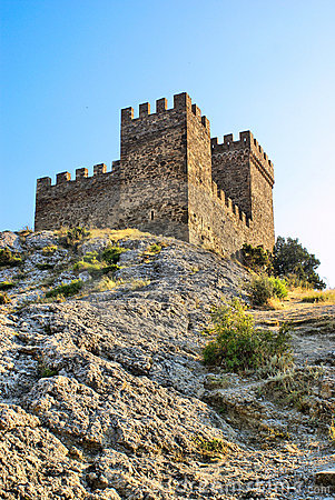 Genoese fortress. Consul castle. Fortifiaction.