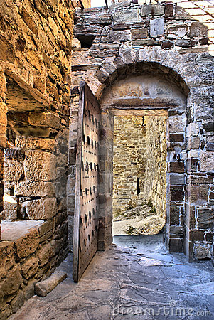 Genoese fortress old door