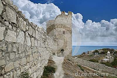 Genoese fortress in town of Feodosia