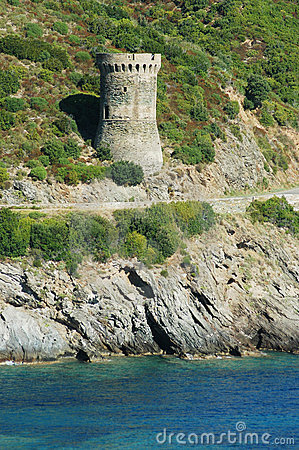 Genoese tower in Corsica