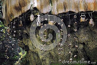 Genomblöt vägg i Knaresborough, England