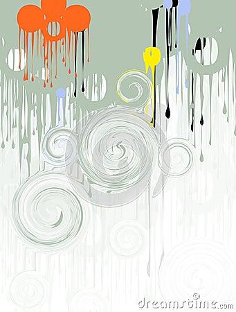 Genomblöta målarfärgswirls