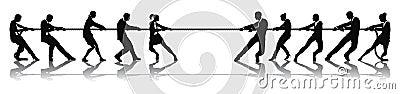 Gens d affaires de concurrence de conflit