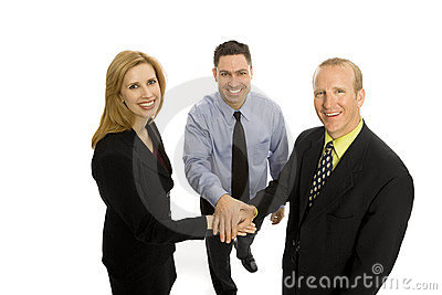 Gens d affaires de travail d équipe