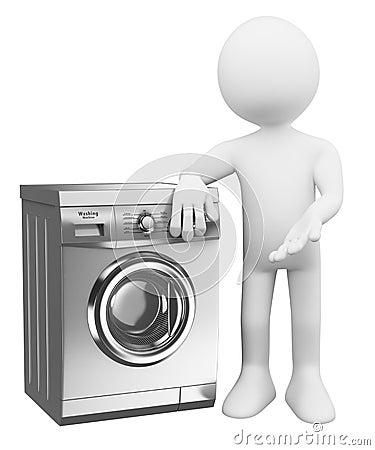 gens du blanc 3d machine laver moderne illustration stock image 44695951. Black Bedroom Furniture Sets. Home Design Ideas