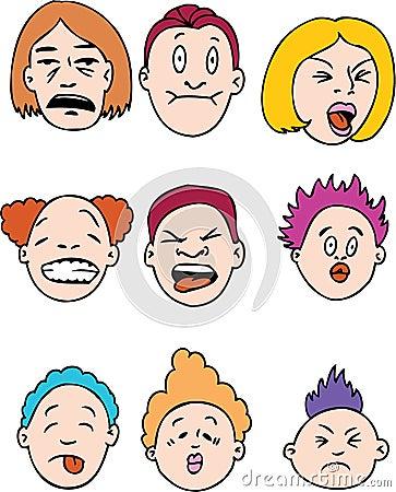 Gente con cara de pocos amigos