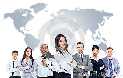 Gente di affari attraente