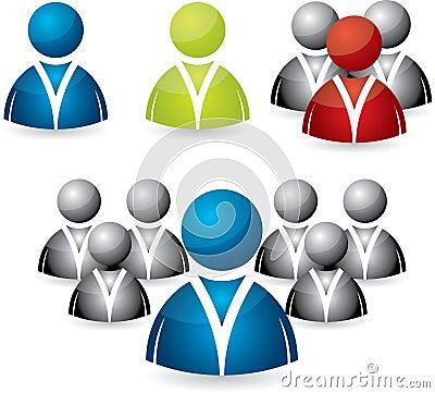 Gente di affari dell insieme dell icona