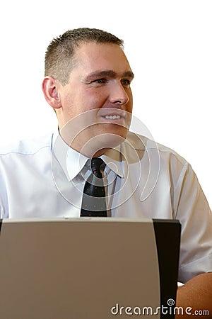 Gente di affari - funzionando con il computer portatile