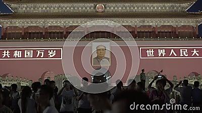 Gente en Plaza de Tiananmen. Pek?n. China. asia metrajes