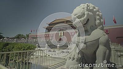Gente en Plaza de Tiananmen. Pek?n. China. asia almacen de video