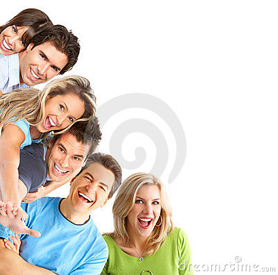 Gente feliz joven