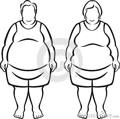 Gente morboso obesa