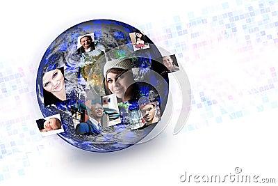 Gente social de los media global