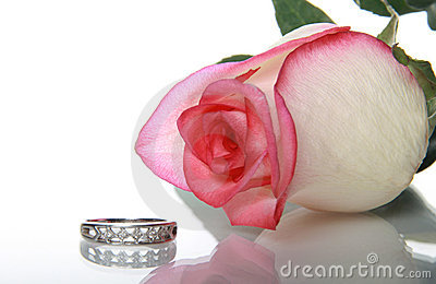 Gentile rose and wedding ring