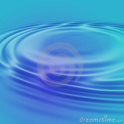 Gentle blue water ripples