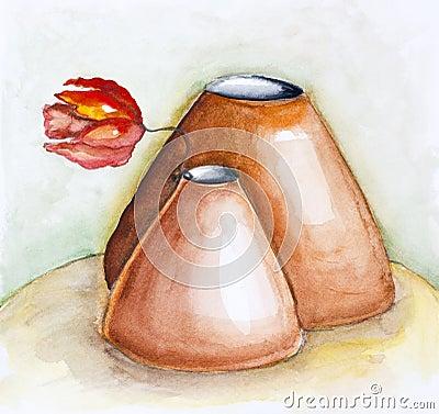Gentle clay pots