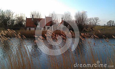 Gentle Dutch river view
