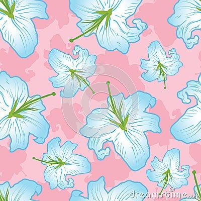 Gentle flower seamless