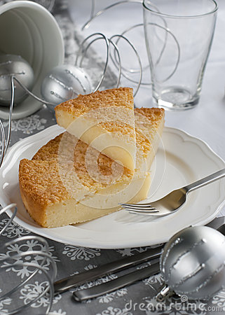 Gentle Pie on a Christmas Table