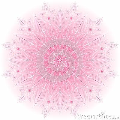 Gentle pink-white frame