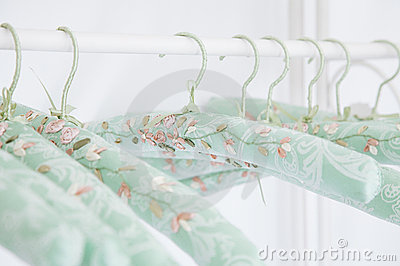 Gentle silk hangers, old romantic style
